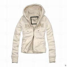 Abercrombie and Fitch Womens shea Fur Hoodie white