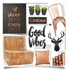 """Good Vibes"" by tammara-d ❤ liked on Polyvore featuring interior, interiors, interior design, home, home decor, interior decorating, Jo-Liza, Balmain, colorchallenge and copperdecor"