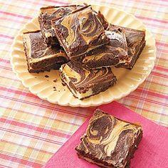 Cream Cheese Swirl Brownies #recipe