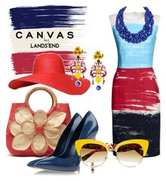 """""""Paint Your Look With Canvas by Lands' End: Contest Entry"""" by theladyintheblackdress ❤ liked on Polyvore featuring Lands' End, Canvas by Lands' End, Humble Chic and Dolce&Gabbana"""