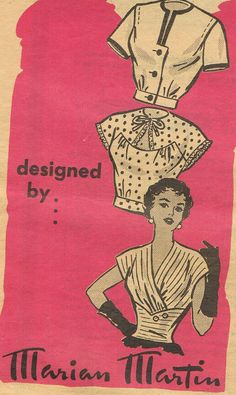 1940s Evening Blouses Marian Martin 9209 Misses by JFerrariDesigns, $32.00