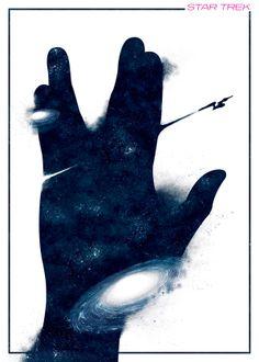 Star Trek tribute poster by Boris Lechaftois