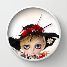 Erregiro Blythe Custom Doll Twiggy Wall Clock by Erregiro - $30.00