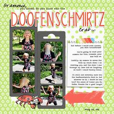 the Doofenschmirtz crab; kits weedsandwildflowers/Gina Marie Huff/kits/The Discover Collection/pp, alpha and embellishments The DIgichick/Charmbox Studios/ice cream shoppe (banana split) action, shadow work 45 drop shadows, re-size for web action