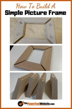 Learn how to build this simple picture frame project great for beginner woodworking. Easy wood project that will still enhance your skills. Build A Picture Frame, Picture Frame Projects, Wood Picture Frames, Wood Projects That Sell, Easy Wood Projects, Easy Woodworking Projects, Unique Woodworking, Project Ideas, Wooden Diy