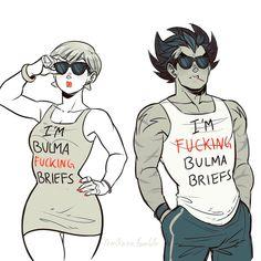 Bulma and Vegeta - Visit now for 3D Dragon Ball Z compression shirts now on sale! #dragonball #dbz #dragonballsuper