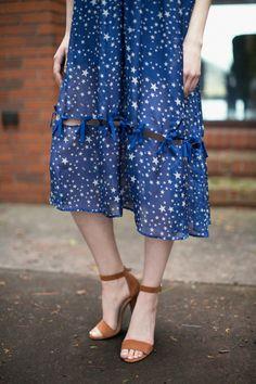 Star Print Tijana Dress | BONA DRAG