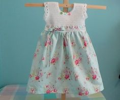 Como Crochet bebê Vestido da menina da criança usando Vintage Pillow Case Pattern Tutorial (Video)