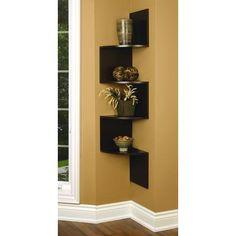 nexxt - Provo Corner 4 Tier Wood Shelf In Walnut, 57 Inch X12 Inch X12 Inch , Max 20Lb per Shelf - FN81462-4 - Home Depot Canada