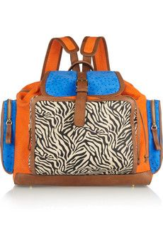 Yes!  Pierre Hardy | Color-block suede backpack | NET-A-PORTER.COM