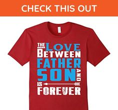 Mens The Love Between Father And Son Is Forever T Shirt 3XL Cranberry - Relatives and family shirts (*Amazon Partner-Link)