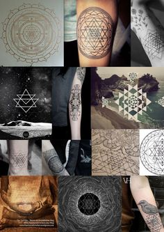 unique Geometric Tattoo - Yantra - symbolic meaning The Yantra is a linear geometric figure that embodies ...