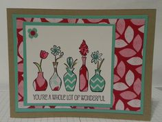 paper pieced vivid vases by lizzier - Cards and Paper Crafts at Splitcoaststampers