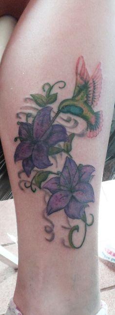 #lily #hummingbird #tattoo