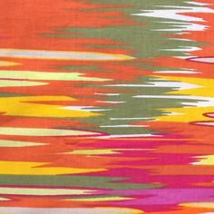 orange, green, yellow and pink fabric via etsy seller Palavik