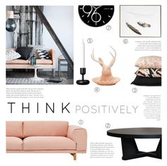 """Think Positively!"" by c-silla ❤ liked on Polyvore featuring interior, interiors, interior design, home, home decor, interior decorating, H&M, Muuto, Imm Living and iittala"