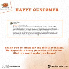 #CustomerReview #HappyCustomer💯     #Numberwale #BecauseNumberMatters #VIPNumbers #PremiumNumbers #CloudTelephony #IVR #VirtualReceptionist #SMS #BulkSMS #SMSService Fancy Numbers, Virtual Receptionist, Numerology Numbers, Lucky Number, Vip