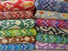 set of 05 pieces wholesale ikat throw mix by jaisalmerhandloom, $249.00