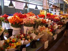 Pike Place Market flower bouquets This place is amazing and smells great!!