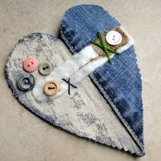 denim heart