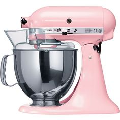 KITCHENAID Artisan mixer pink 'Cook for the Cure' edition ($615) ❤ liked on Polyvore featuring home, kitchen & dining, small appliances, fillers, kitchen, food, pink, kitchenaid standing mixer, kitchen aid stand mixers and pink mixer