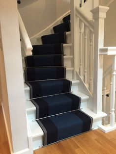 Hallway Decorating, Decorating Ideas, Decor Ideas, House Stairs, Stairway, Staircases, Carpet Runner, Runners, Indigo