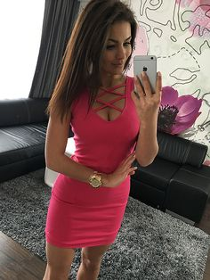 2019 Summer Sexy Slim Women Dress Solid Color U-Neck Cross-Belt Dress Sleeveless Plus Size Package Hip Dress Color Black Size XS Sexy Dresses, Dresses Elegant, Club Dresses, Ball Dresses, Women's Fashion Dresses, Dresses Dresses, Cheap Dresses, Fashion Clothes, Sleeveless Outfit