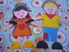 MOLDES DE ESPANTALHO E DE CASAL PARA FESTA JUNINA | Cantinho do Educador Infantil
