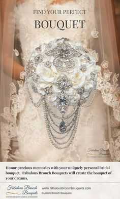 Fabulous Brooch Bouquets specializes in custom brooch bouquets. You can select from our many styles or we can create a new design for you in your wedding colors. Since all of our bouquets are custom, we can work within any price range. Just contact us with your wedding colors and your floral budget and we will work with you to create the best brooch bouquets. We will also send you free Tips on choosing the perfect bouquet We also offer custom coordinating bridal accessories including…