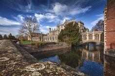 St. John's College at Cambridge - photo by Barrie Tumbridge