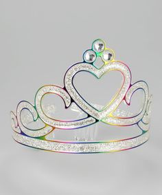 Take a look at this Story Book Wishes Rainbow Glitter Tiara by Pretty Princesses Collection on #zulily today! ♥ Rainbow White Color Design Art Food Pretty Beautiful Colorful Fashion ♥ oreos cookies