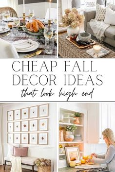 A round-up of simple DIY crafts and cheap fall decor ideas to make your home feel cozy and inviting using (mostly) what you already have.