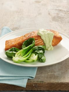 Grilled Salmon with Chobani Wasabi Sauce. I'm testing this for my Shrinking On A Budget Meal Plan this week.  I'll adapt it a bit but what a wonderful idea.