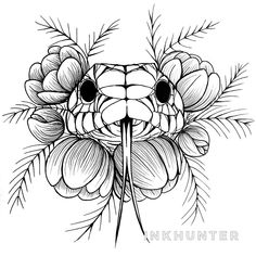 Design by Diana Kolyasa ( Dark Art Drawings, Colorful Drawings, Art Drawings Sketches, Tattoo Sketches, Tattoo Drawings, Dream Tattoos, Time Tattoos, Body Art Tattoos, Tatto Floral