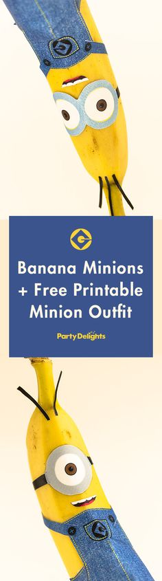 free printable minion outfits to make these adorable banana minions! Perfect for a minion birthday party or a lunch box surprise! Minion Theme, Minion Birthday, Boy Birthday, Birthday Ideas, Surprise Birthday, Birthday Party Outfits, 4th Birthday Parties, Fete Laurent, Minion Craft