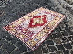 Your place to buy and sell all things handmade Boho Decor, Bohemian Rug, Turkey Colors, Rugs On Carpet, Carpets, Small Rugs, Kilim Rugs, Vintage Rugs, Wool Rug