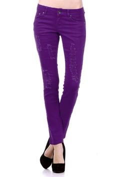 Ripped Urban Premium Womens Destroyed Denim Leggings Jeggings Hot Skinny Pants (Large, Purple) Hot from Hollywood,http://www.amazon.com/dp/B00AC7L3JS/ref=cm_sw_r_pi_dp_USDmsb0KY3FZX6V3