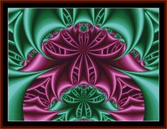 FR-100 - Fractal 100 - All cross stitch patterns - - Abstract - Fractals - Graphic Art - Whimsical - Cross Stitch Collectibles