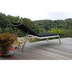 Alcedo Lounge Sonnenliege, verstellbar, elastische Bänder
