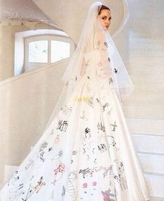 After the newly married couple tied the knot at their French estate on Aug. 23, finally the first glimpse of their wedding photos are here , which will appear in Wednesday's issue of People magazine as Hello magazine internationally. Angelina appears in full bridal regalia and there are also pictures of the bride and groom …