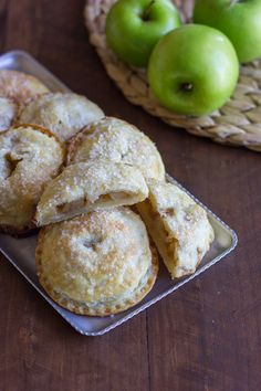 Apple Hand Pies - how to make these adorable apple hand pies plus the secret to making the FLAKIEST pie crust!