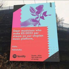 Spotify 'advertisement' in Bristol, UK Spotify Advertising, Spotify Billboards, Funny Billboards, Reddit Funny, Brand Campaign, Funny Pranks, Funny Kids, Funny Posts, Funny Pictures