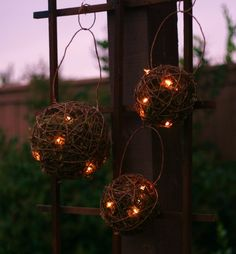 SET of 3 Outdoor Rustic Wedding Decoration Firefly by braggingbags