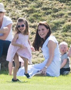 Catherine, Duchess of Cambridge, Prince George of Cambridge and Princess Charlotte of Cambridge attend the Maserati Royal Charity Polo Trophy at Beaufort Park on June 2018 in Gloucester, England. Get premium, high resolution news photos at Getty Images Princesa Charlotte, George Of Cambridge, Duchess Of Cambridge, Prince William And Catherine, William Kate, Lady Diana, Kardashian, Princesa Kate Middleton, Prinz William
