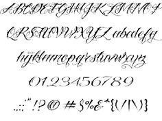 Vtc-NueTattooScript font by Vigilante TypeFace Corp. Cursive Tattoo Letters, Lettering Styles Alphabet, Tattoo Lettering Design, Tattoo Fonts Alphabet, Tattoo Lettering Fonts, Lettering Ideas, Hand Lettering, Calligraphy Alphabet, Calligraphy Fonts