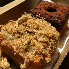 Cronuts with a twist 😍👌😋 ::sweet mayo with pork floss and Milo ganache with extra Milo ❤❤ Pork Floss, I Foods, Sweet