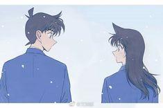 Ran And Shinichi, Kudo Shinichi, Magic Kaito, Detective Conan Shinichi, Kaito Kid, Gosho Aoyama, Detective Conan Wallpapers, My Childhood Friend, Anime Stories