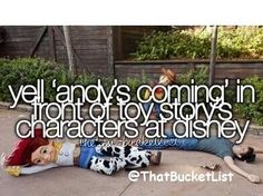 Bucket list! That would be awesome!