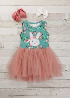 Baby Girls Rabbit Bunny Toddler Tutu Dress Party Birthday Casual Kids Clothes UK