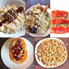 mybetter_self WHAT I EAT IN A DAY -  MUSCLES GAINS 👐🏼 Macros : 2450 cals - 160 P / 300 C / 65 F - Meal 1 : Porridge, egg white, protein powder, banana, @grenade carb killa & peanut butter - Meal 2 : Quinoa, sweet potatoes, eggplant, peppers, tempeh, nutritional yeast - Meal 3 : Homemade superfood bread with dairy free cheese & smoked salmon - Meal 4 : My stuffed butternut squash reci...